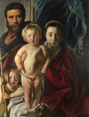 Якоб Йорданс. Holy family and Saint John the Baptist