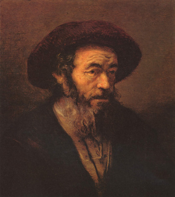 Rembrandt Harmenszoon van Rijn. The old man in a fur hat
