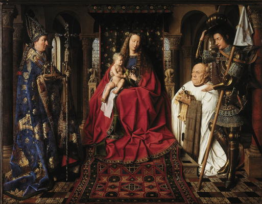Jan van Eyck. Madonna of Canon Georg van der pale
