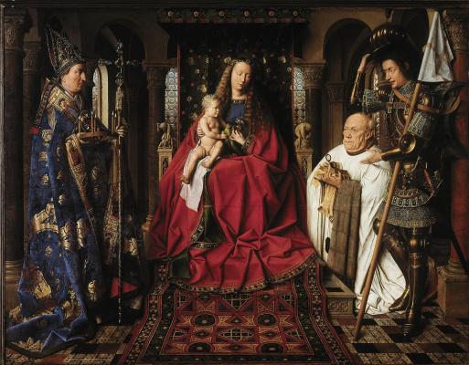 Jan van Eyck. Madonna of Canon Georg van der pale