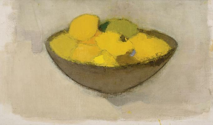 Helena Sophia Scherfbek. Lemons in a Vase