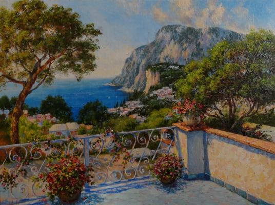 Irina Nikolaevna Borisova. On the island of Capri.