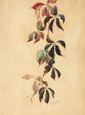 Giovanni Giacometti. Autumn leaves