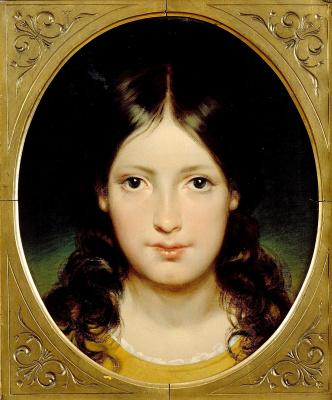 Фридрих фон Амерлинг. Портрет в овале. 1838