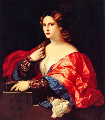 Palma il Vecchio. Portrait of a young woman