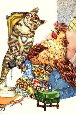 Адриенн Сегур. Кот, петух и лиса