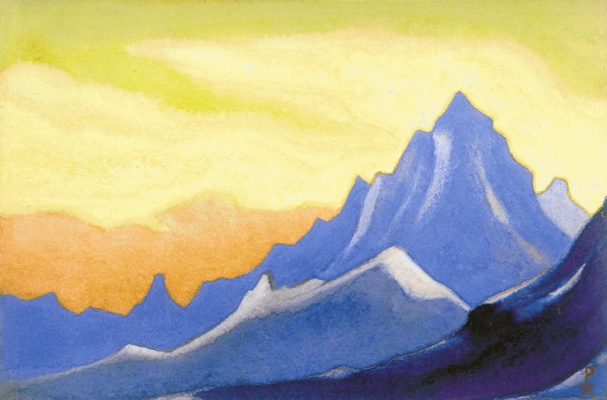 Nicholas Roerich. The Himalayas (Sonata overhead paint)