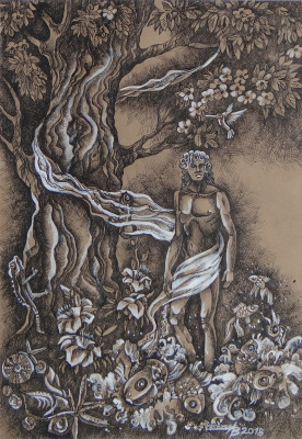 Александр Владимирович Чесноков. Триптих «Адам и Ева». Правая часть «Адам»