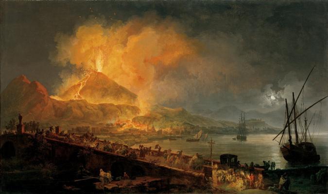 Pierre-Jacques Woller. The Eruption Of Mount Vesuvius. 1777