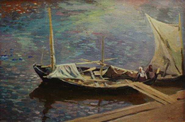 Nikolay Ivanovich Shestopalov. Fishermen. 1920s