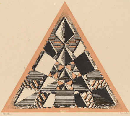 Maurits Cornelis Escher. Three intersecting planes