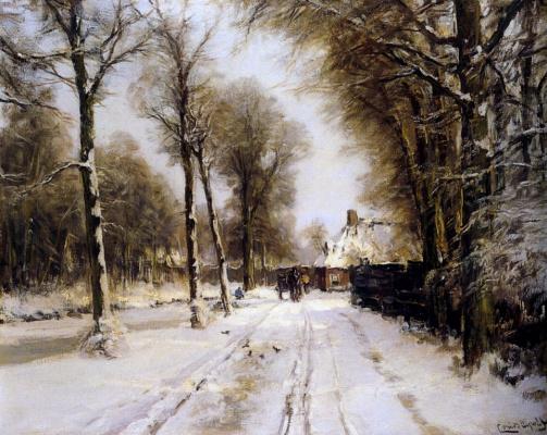 Луи Апол. Зимний пейзаж2