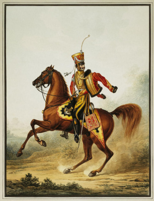 Alexander Ivanovich Sauerweid. Staff officer of the life guards hussar regiment