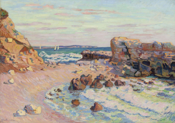 Arman Guillaume. Rocks at Saint-Palais, rising tide