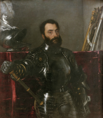 Titian Vecelli. Portrait of Francesco Maria della Rovere, Duke of Urbino