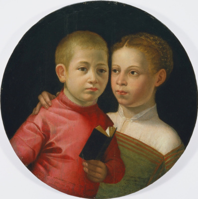 Sofonisba Anguissola. Double portrait of a boy and a girl from the Attavanti family