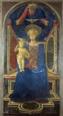 Доменико Венециано. Дева с младенцем на троне