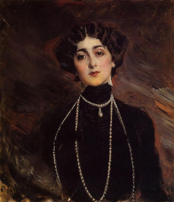 Giovanni Boldini. Portrait of Lina Cavalieri