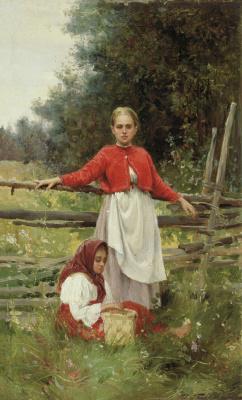 Илья Саввич Галкин. Крестьянские дети. 1898