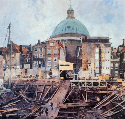 Корнелис Вриденбург. Стройка и церковь в Амстердаме
