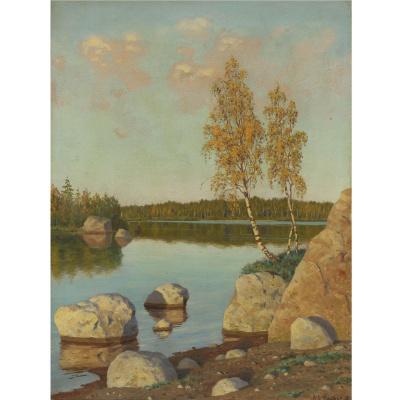 Иван Федорович Шультце. У озера