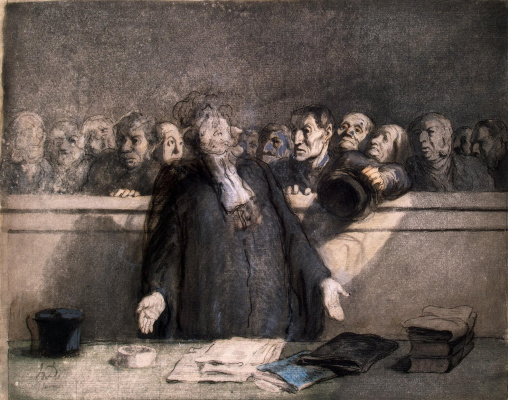Honore Daumier. Saving it