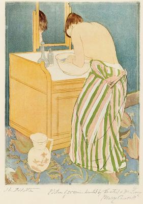 Mary Cassatt. Woman washing itself