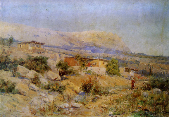 Vasily Dmitrievich Polenov. The Balkan landscape. From the field studies performed in the Balkans during the Russo-Turkish war