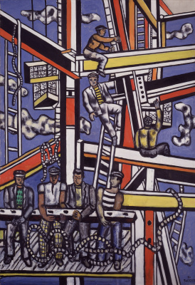Fernand Leger. Builders with rope