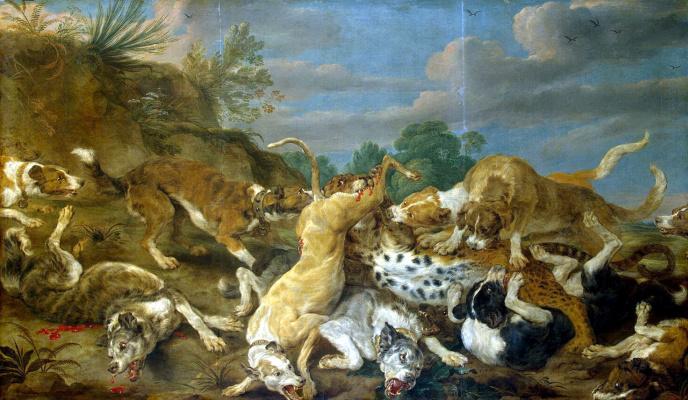 Пауль де Вос. Охота на леопарда