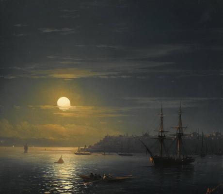 Ivan Constantinovich Aivazovski. View of Constantinople by moonlight