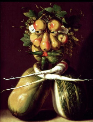 Giuseppe Arcimboldo. Portrait (still life with squash and fruit)