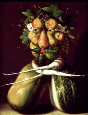 Giuseppe Arcimboldo. Portrait (still life with squash and fruit)