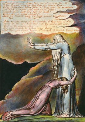 """William Blake. The Angel Of Albion. Illustration for the poem """"Europe: a prophecy"""""""