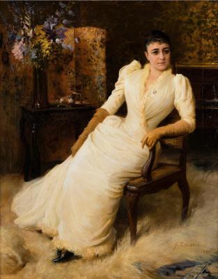Альберт Густав Аристид Эдельфельт. Мадам Коэн. 1890