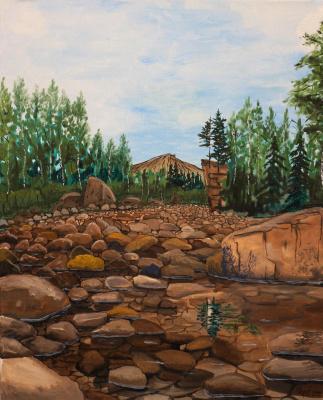 Vladimir Adamovich Ropot. Stone edge