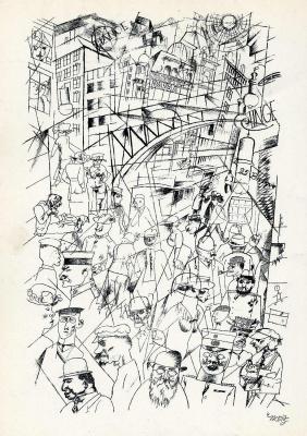 George Grosz. The city