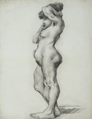 Vincent van Gogh. Standing Nude model seen from the side