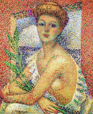 Jean Metzinger. Woman with a bouquet of leaves