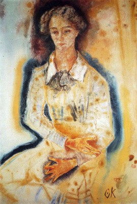 Oskar Kokoschka. Portrait of Lotta
