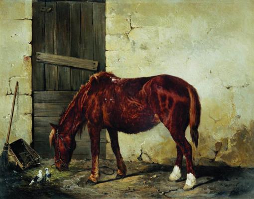 Nikolay Egorovich Sverchkov. The working horse. 1859