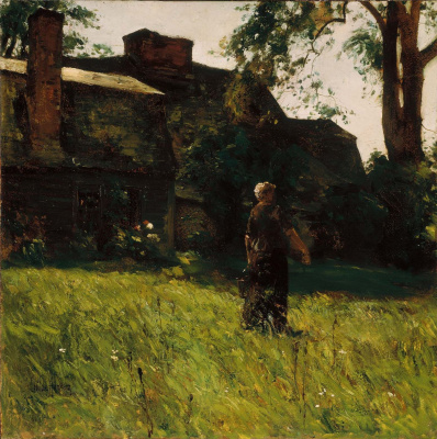 Childe Hassam. The old Fairbanks house, Dedham, mA