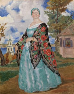 Boris Mikhailovich Kustodiev. The merchant's wife