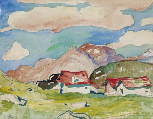 Giovanni Giacometti. Residential complex in the mountains, Maloja