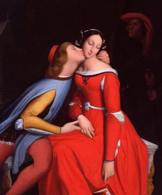Jean Auguste Dominique Ingres. Francesca da Rimini and Paolo Malatesta