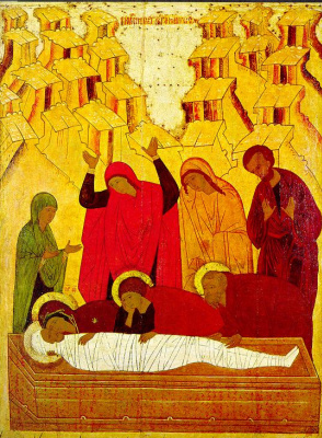 Icon Painting. Entombment