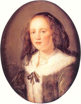Герард Доу. Портрет женщины в черной вуали