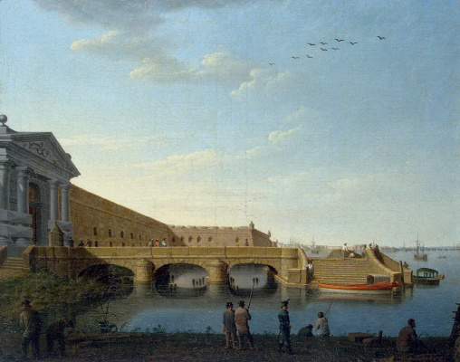 Benjamin Patersen. Neva gate of the Peter and Paul fortress