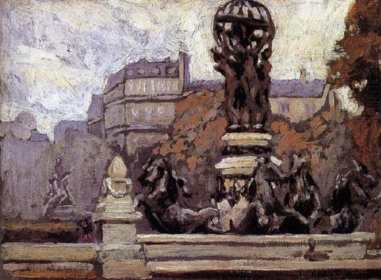 Grant Wood. Foggy day in Paris