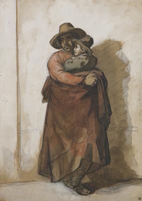 Théodore Géricault. Roman peasant and son